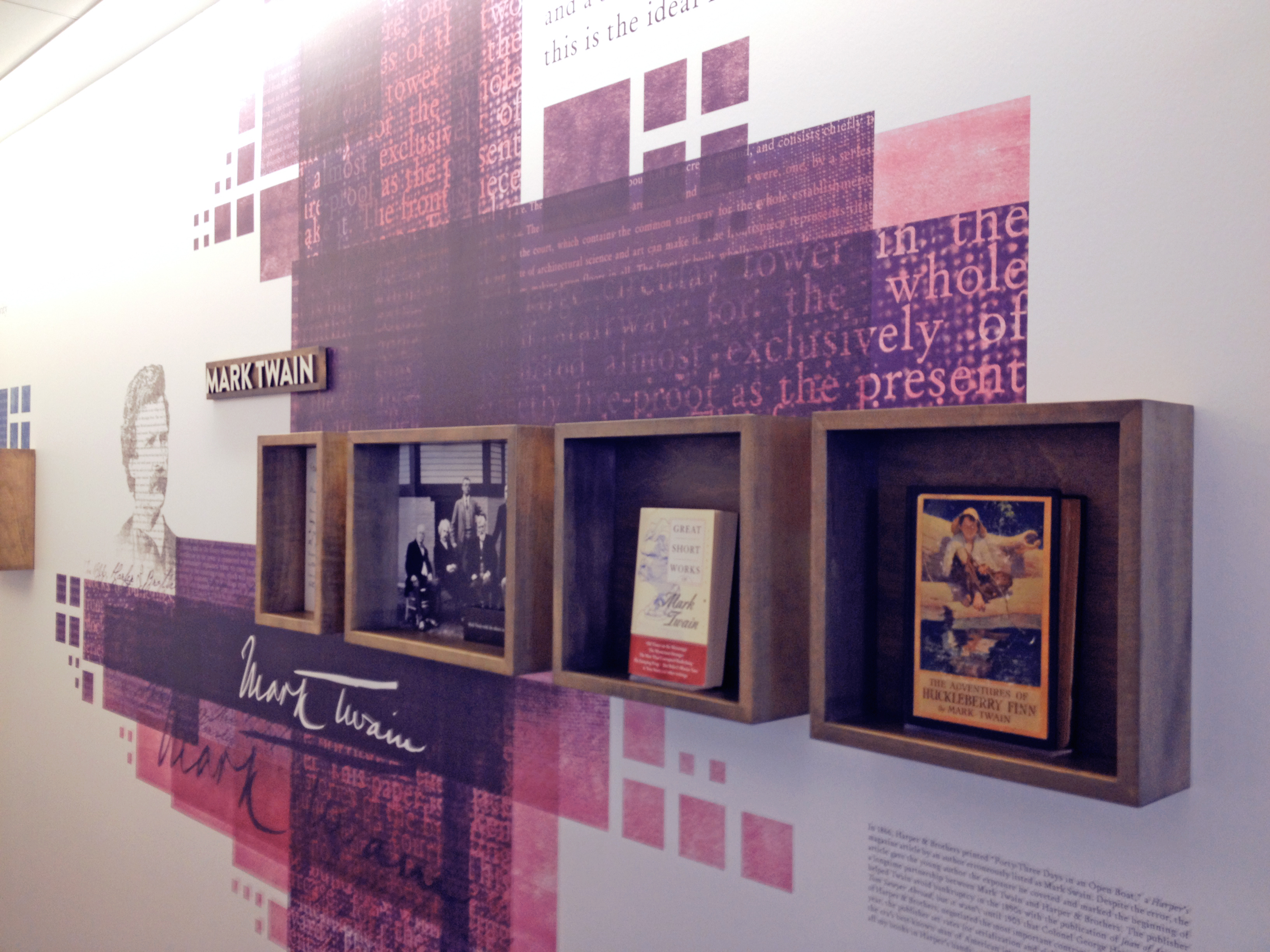 This is a photograph from HarperCollin's visitor exhibit, which honors many of the publisher's authors.